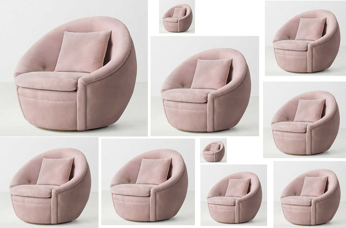 Swivel Tub Chair Rh S Round Oberon Swivel Tub Chair Is Really The Thing Of Dreams