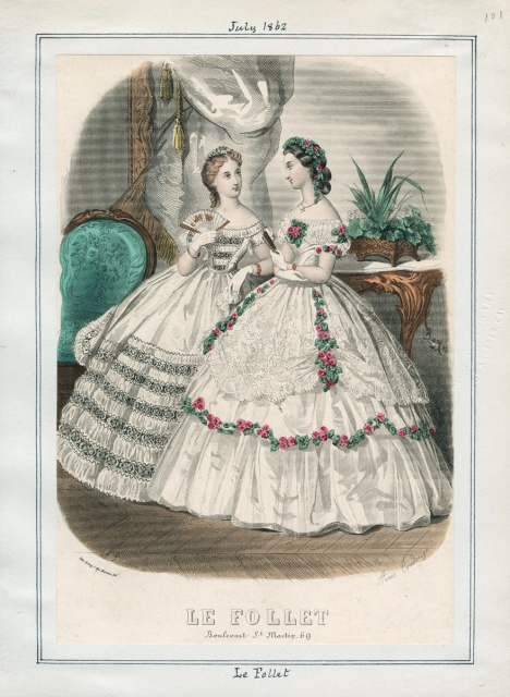 1850s and 1860s Evening dresses  Byrons muse