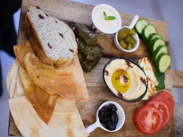 Lebanese Sajeria Amsterdam hummus bread