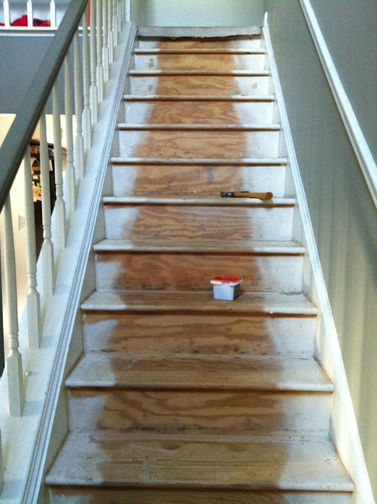 My Painted Steps Saved By Scottie | Painted Stairs With Carpet | Middle | Design | Diamond Pattern | Victorian | Laminate