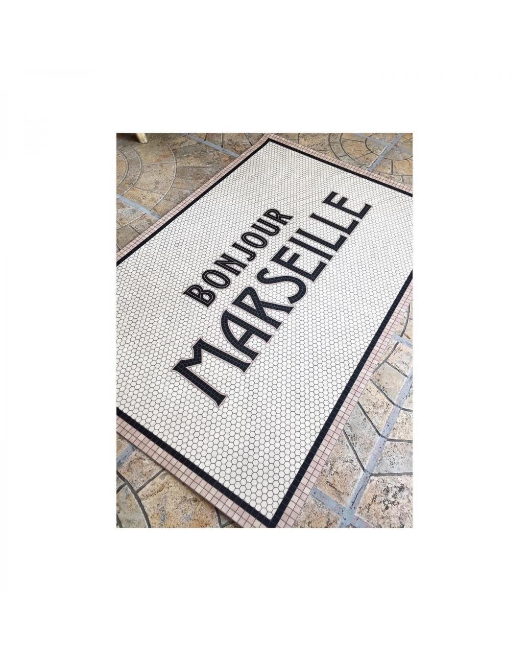 tapis vinyl bonjour marseille