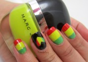 bob marley inspired nails