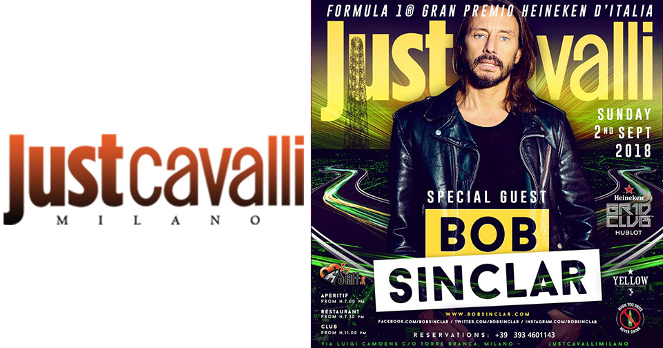 Bob Sinclar Domenica 2 Settembre 2018 @ Just Cavalli | #bystaff.it