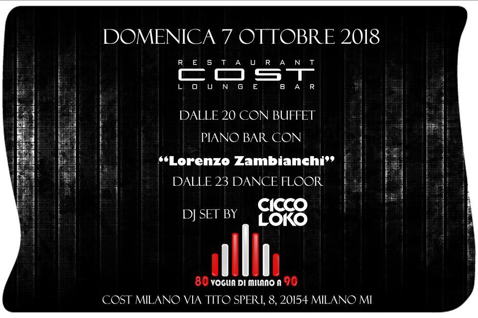 Opening Aperitivo Domenica 07 Ottobre 2018