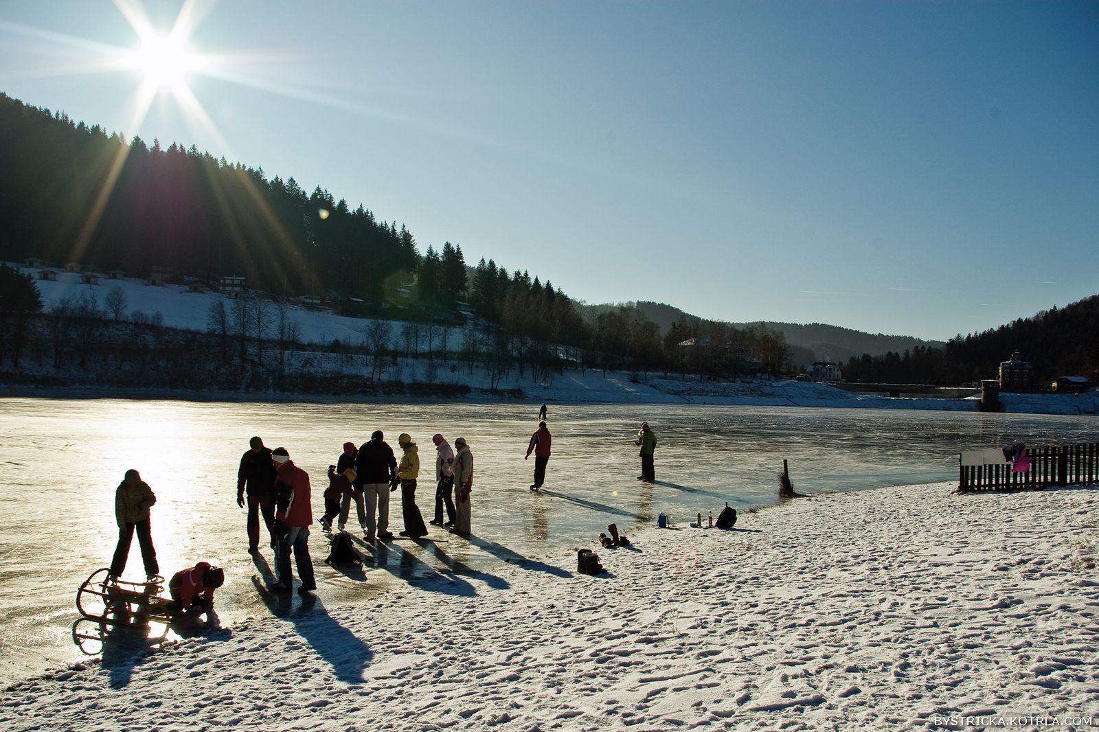 Zimní přehrada Bystřička