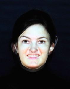 Face to face - projektion på ansigt