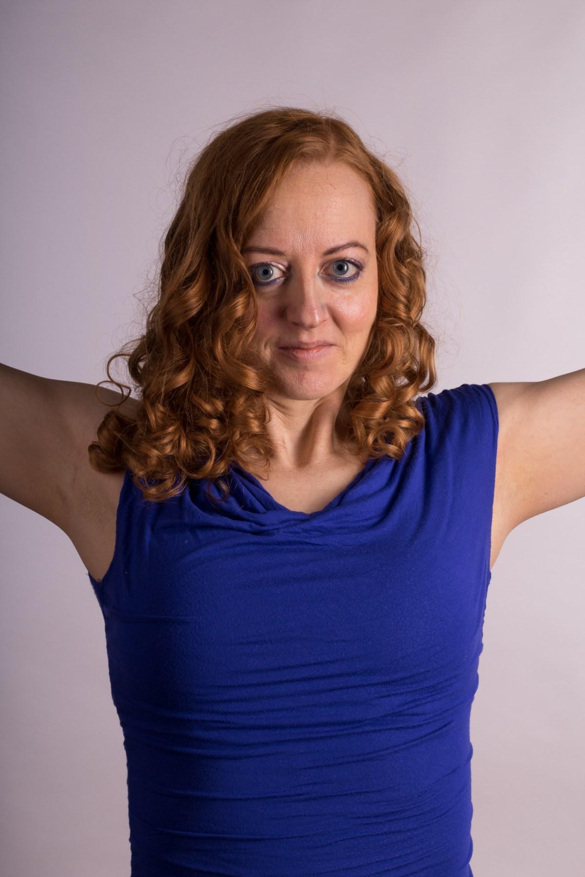 Alexandra, portræt - krøller
