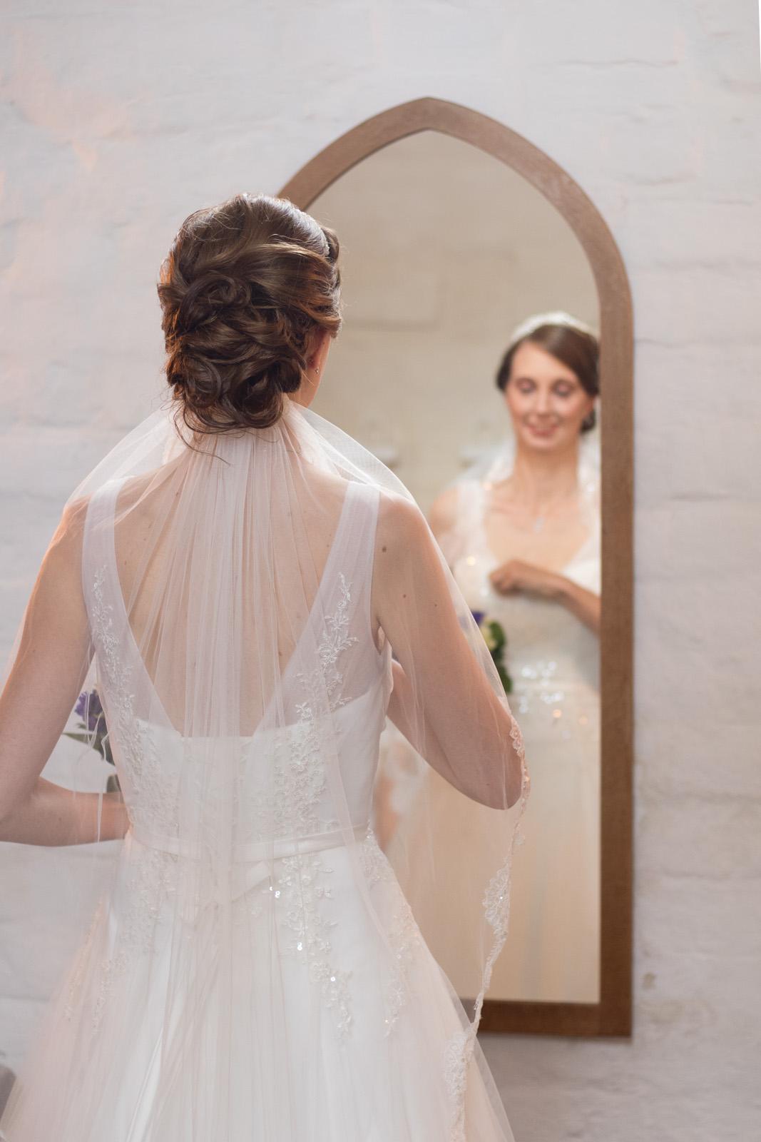 Tine og Allans bryllup - spejlbillede