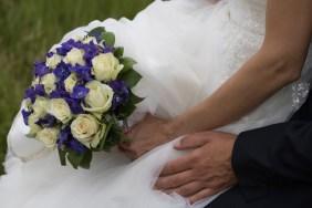 Tine og Allans bryllup - brudebuket