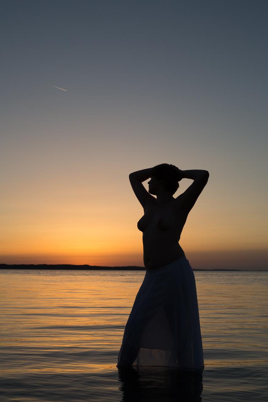 Silhuet ved solnedgang på orø footo meet-up