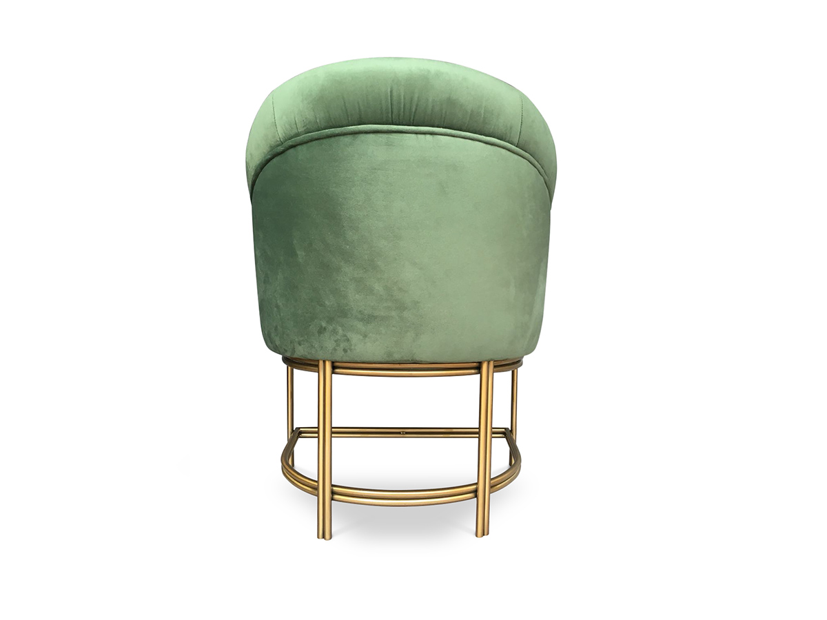steel chair gold kids hanging keira dining byswans bold statement furniture