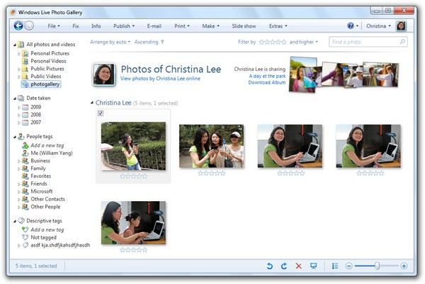 Windows Live Photo Gallery, la galería de fotos gratuita de Microsoft