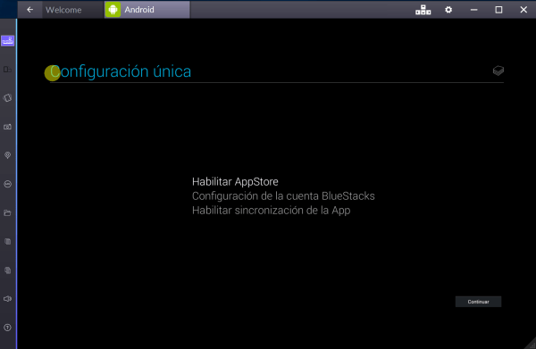 Confiuración Bluestacks
