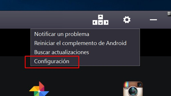 configurar bluestacks