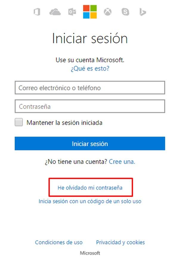 No puedo iniciar sesión en Outlook.com b