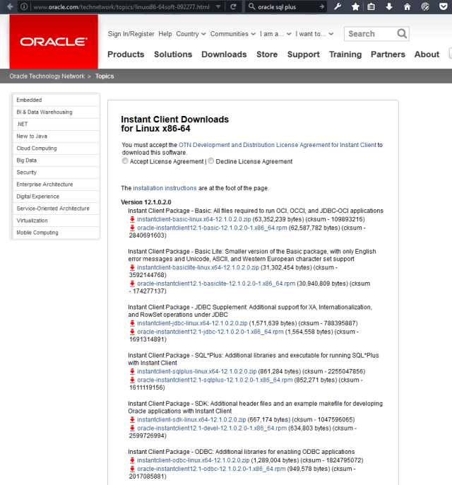 Installing Oracle SQL*Plus on CentOS – Bytefreaks net