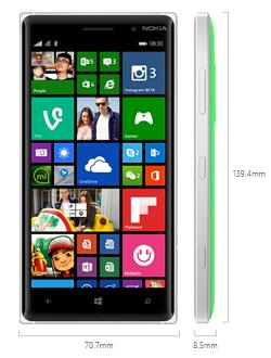 lumia830dimensiones