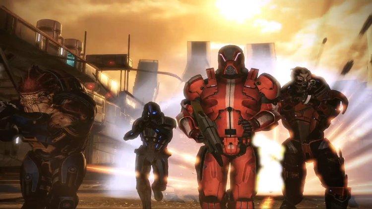 4 jugadores se enfrentan a la amenaza de los segadores en el multijugador del Mass Effect 3