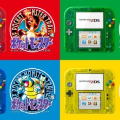 Bundles 2ds con el juego de Pokémon de primera generación.