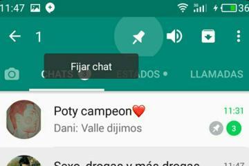 fijar chat whatsapp