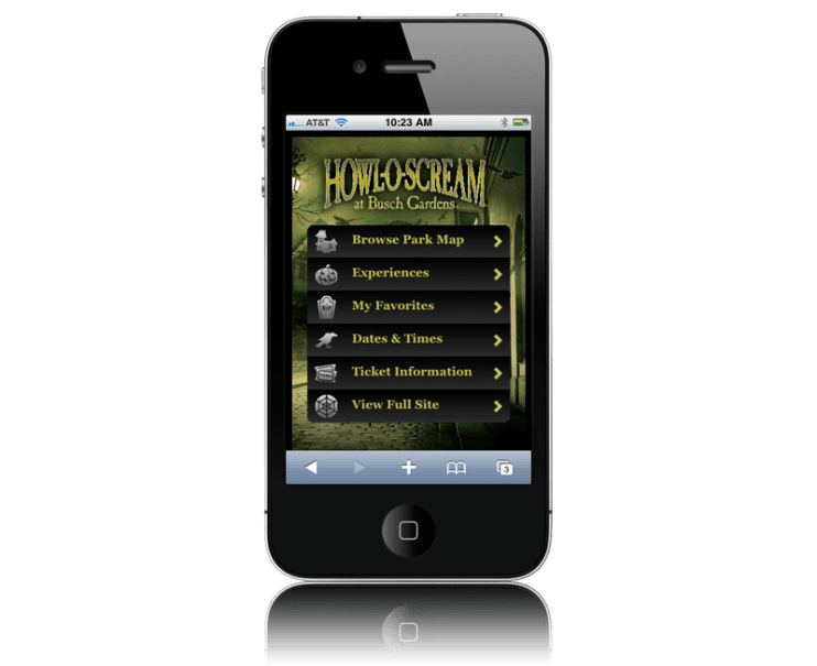 Howl-O-Scream Mobile App