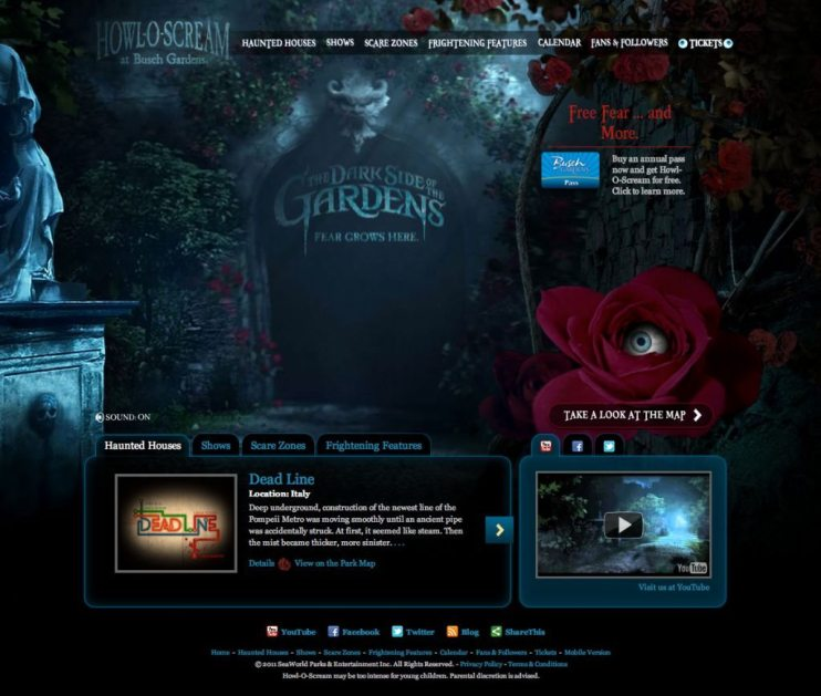 Howl-O-Scream Website