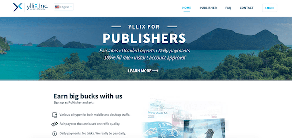 ylliX is a platform that lets you monetize your blog