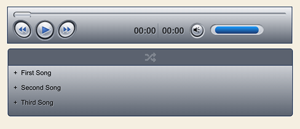 CP Media Player example.