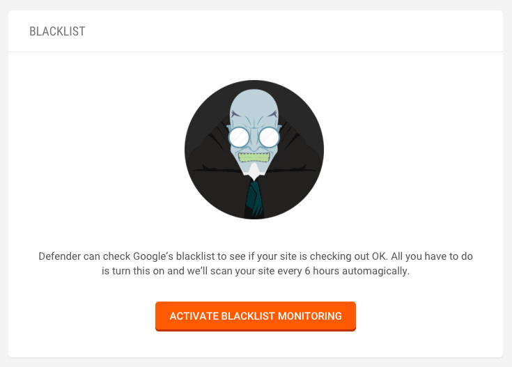 Be the first to know if Google blacklists your site.