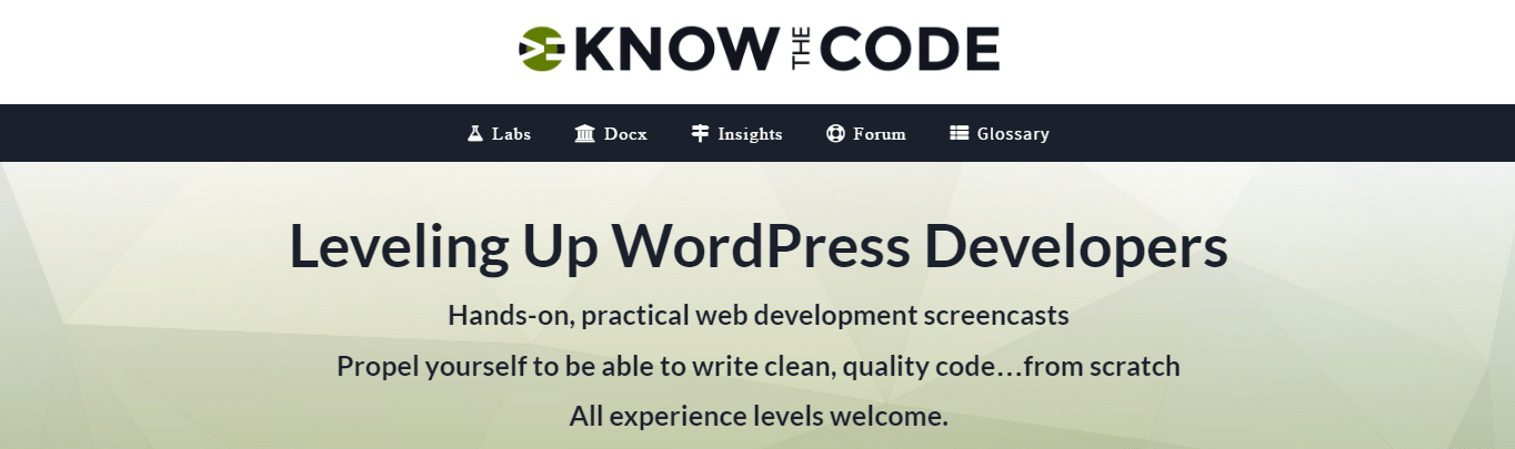 know the code website screenshot