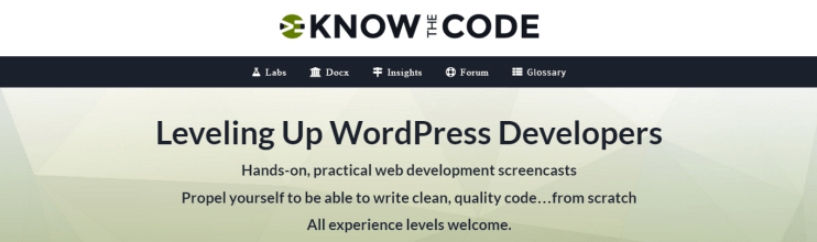 know the code website screenshot