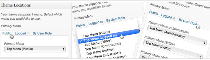 menu-by-user-role