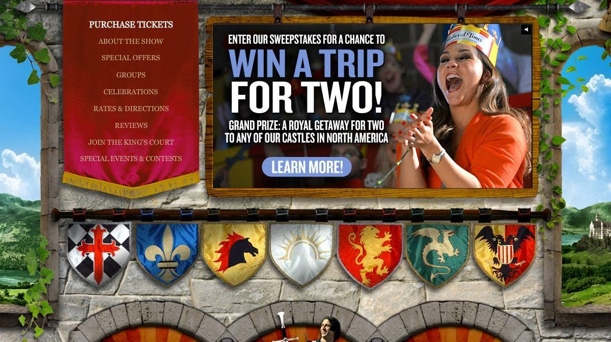 Medieval Times Castle Location Home Page