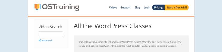ostraining website screenshot