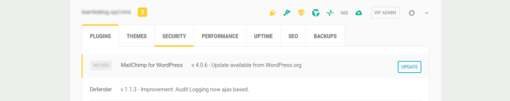You can update plugins from WordPress.org at the Hub