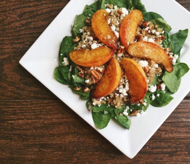 Caramelized Peach Salad