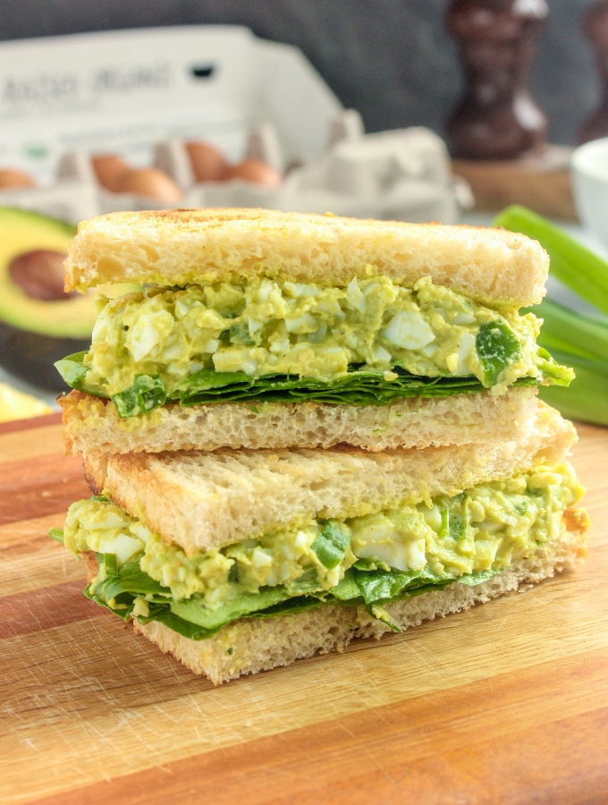 Avocado Egg Salad No Mayo