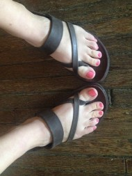 Chacos' Stowe Sandal- durable, somewhat fashionable, and comfortable.