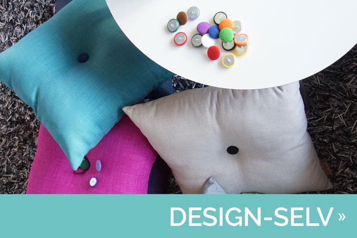 Design dine egne puder med knap