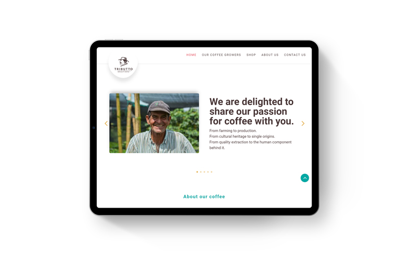 Tributto Coffee Website