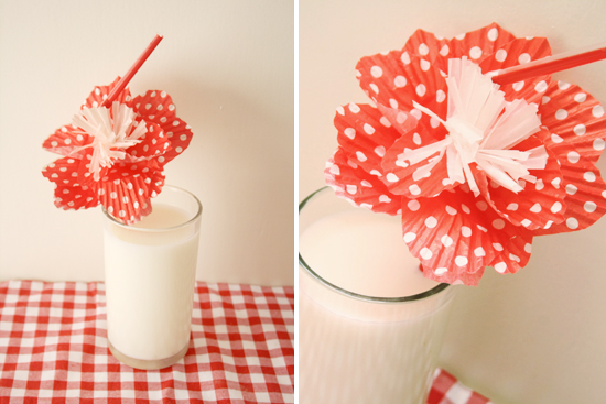 diy - straw flower