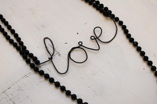 diy - love wire necklace