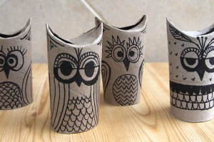10 uses for toilet rolls owls