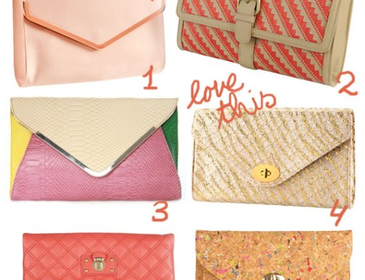 summer clutches - love this