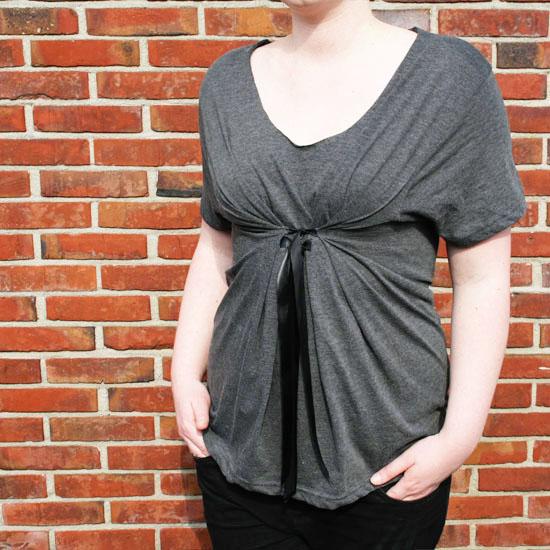 diy easy no sew t-shirt reconstruction