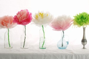 diy mother's day gift paper tisue flowers
