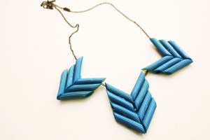 diy mother's day gift penne statement necklace