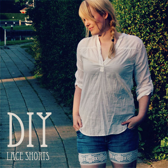 diy - lace shorts