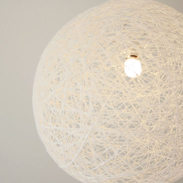 DIY - How to create a perfectly round thread ball lamp