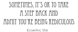 Eccentric Std Font